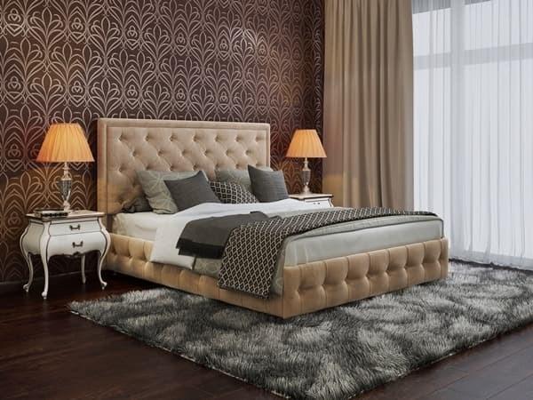 """Интерьерная кровать Вирджиния, основание """"решетка"""" - фото 4787"""