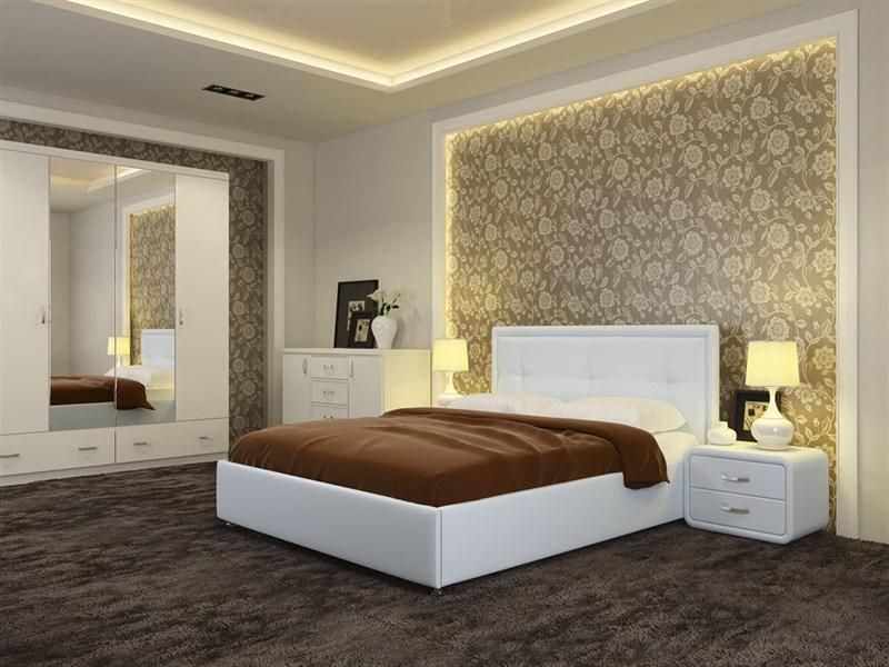 """Интерьерная кровать Адель, основание """"решетка"""" - фото 4792"""