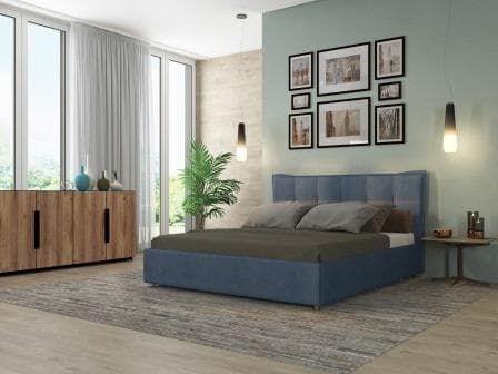 Интерьерная кровать Сканди, основание решетка - фото 5215