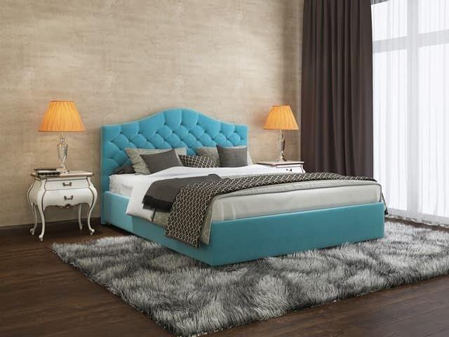 Интерьерная кровать Алина, основание решетка - фото 5227